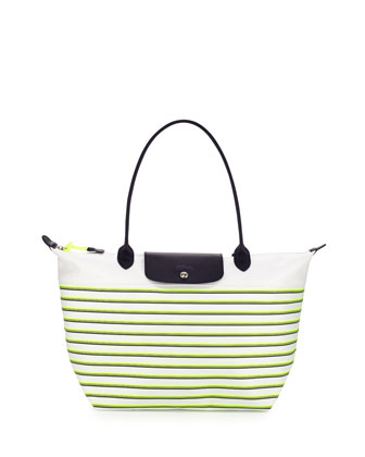 Mariniere Large Striped Tote Bag, Yellow Multi
