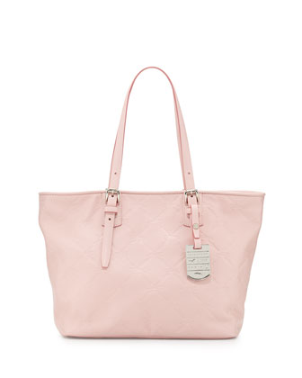 LM Small Cuir Leather Shoulder Tote Bag, Petal Pink