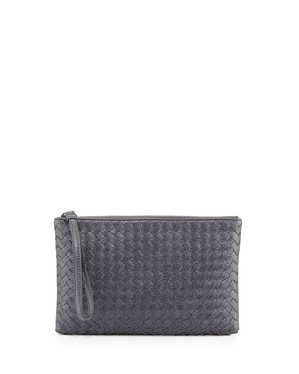 Extra-Large Cosmetic Wristlet Bag, New Light Gray