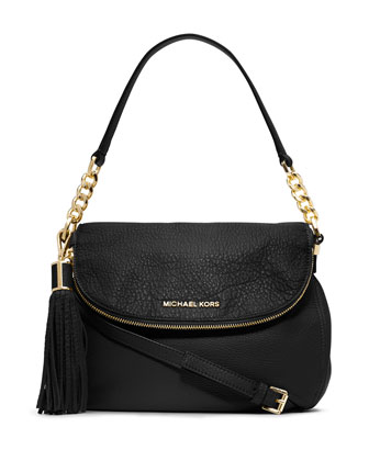 Bedford Medium Tassel Convertible Shoulder Bag, Black