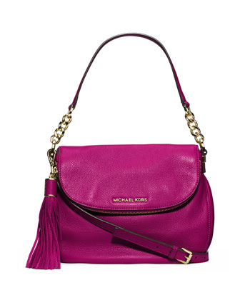 Bedford Medium Tassel Convertible Shoulder Bag, Fuchsia