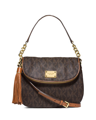 Jet Set Medium Convertible Shoulder Bag with Tassel, Brown
