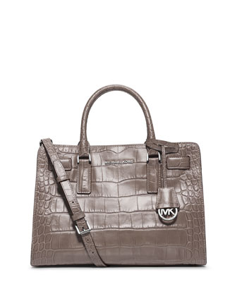 Dillon East-West Satchel Bag, Ash Gray