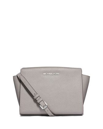 Selma Medium Messenger Bag, Pearl Gray