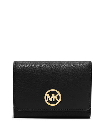 Fulton Medium Tri-Fold Wallet, Black