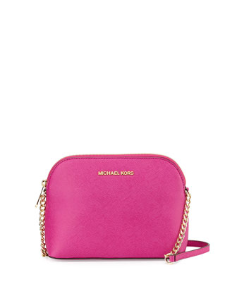 Jet Set Small Travel Dome Crossbody Bag, Fuchsia