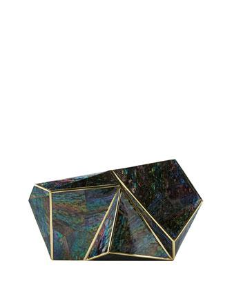 Azura Shell Minaudiere, Multicolor
