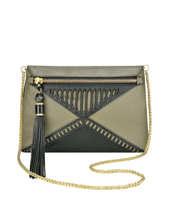 Eva Leather Crossbody Bag, Olive