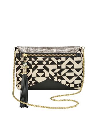 Eva Geometric Crossbody Clutch Bag