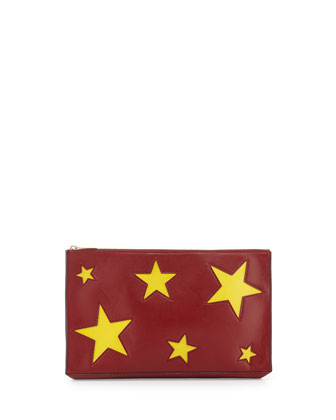 Cavendish Stars Clutch Bag, Ruby