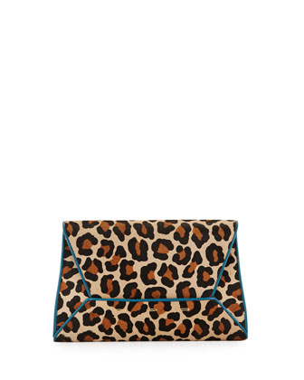 Manila 30 Cavallino Clutch Bag, Brown/Black Multi