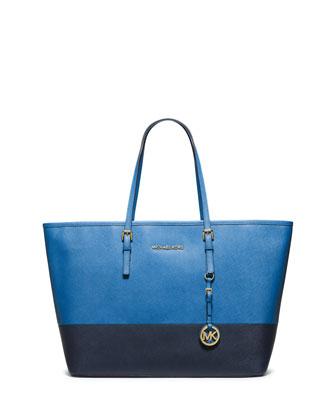 Jet Set Medium Travel Tote Bag, Heritage Blue/Navy