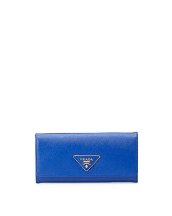 Saffiano Continental Flap Organizer, Blue (Royal)
