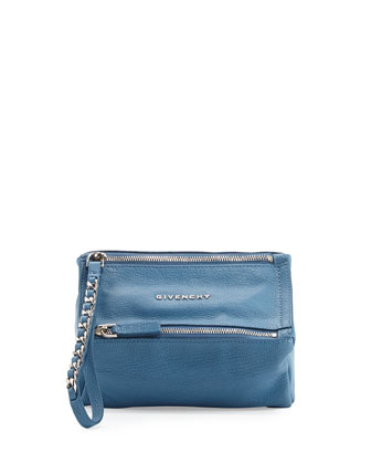 Pandora Wristlet Bag, Medium Blue