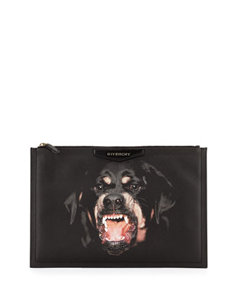 Antigona Large Rottweiler Pouch, Black