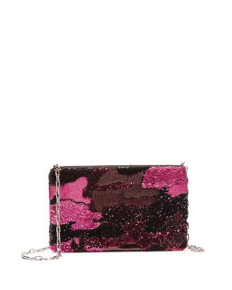 Sequin Camo Crossbody Bag, Pink Multi (Rosa)