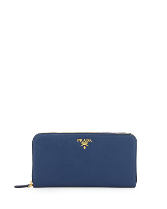 Saffiano Organizer Wallet, Dark Blue (Bluette)