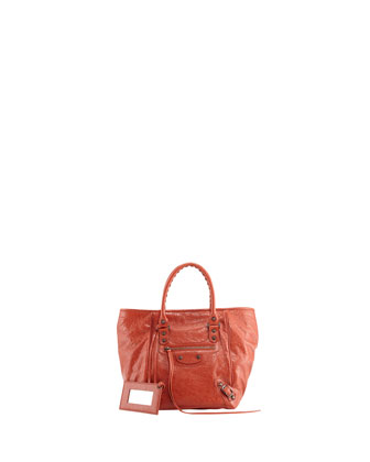 Classic Sunday Small Tote Bag, Rouge Ambre