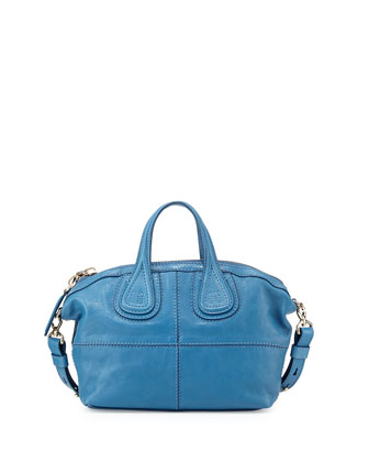Nightingale Micro Zanzi Satchel Bag, Medium Blue