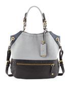 Sydney Shoulder Bag,Light Gray/Multi