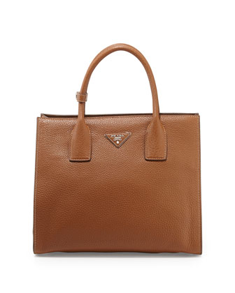 Daino Tote Bag, Medium Brown (Brandy)