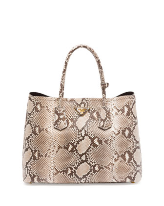 Python Double Bag, Natural/Multi (Roccia)