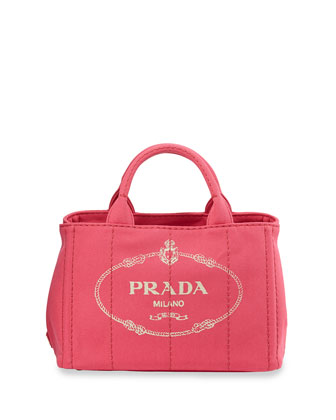 Canvas Logo Tote with Strap, Pink (Peonia)