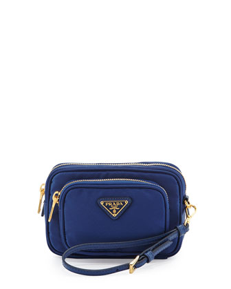 Tessuto Small Pocket Crossbody Bag, Royal Blue (Royal)