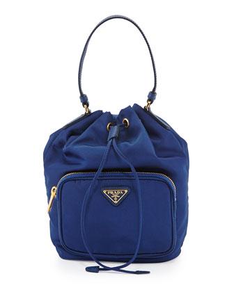 Tessuto Mini Bucket Crossbody Bag, Royal Blue (Royal)