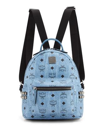 Stark Visetos Mini Backpack, Denim
