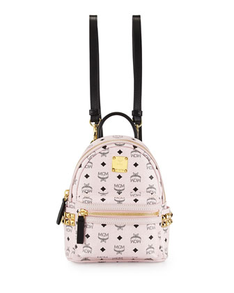 Stark Visetos Mini Backpack, Chalk Pink