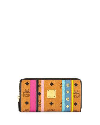 Dia Visetos Monogram Wallet, Cognac