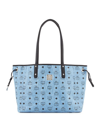 Shopper Project Reversible Logo-Print Shopper Bag, Denim