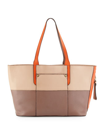 Tatianna Large Tote Bag, Almond Multi
