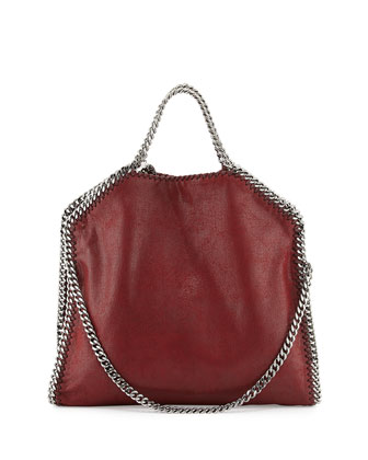 Falabella Fold-Over Tote Bag, Ruby