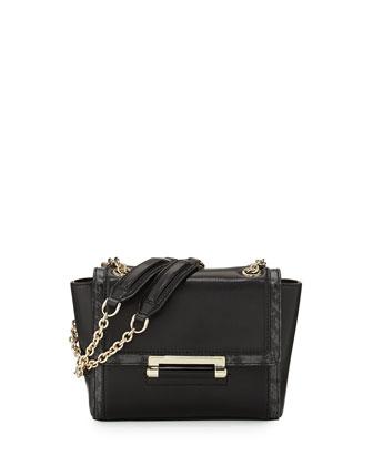 440 Mini Leather Shoulder Bag, Black