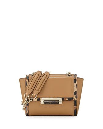 440 Mini Leather Shoulder Bag, Sandalwood/Leopard