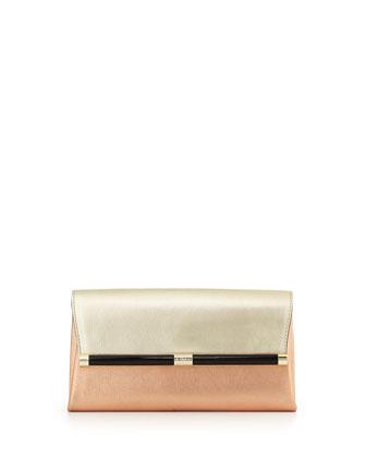 440 Metallic Envelope Clutch Bag
