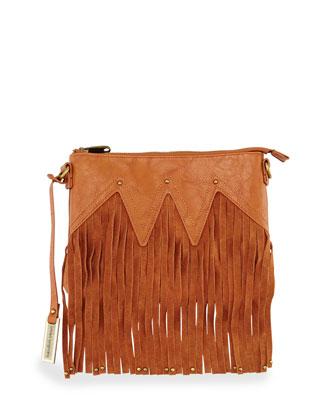 Lover Fringed Clutch Bag, Tan