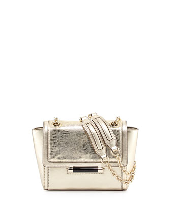 440 Mini Mixed Metallic Shoulder Bag, Dark Gold