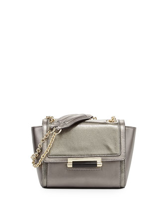 440 Mini Mixed Metallic Shoulder Bag, Pewter
