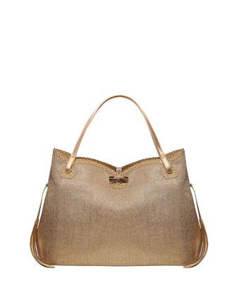 Tuti Linen-Look Tote Bag, Gold