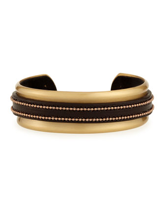 Leather Monili Cuff Bracelet
