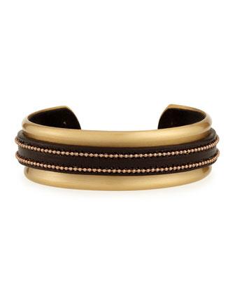 Leather Monili Cuff Bracelet