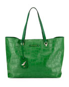 Voyage Croc-Embossed Ready to Go Tote Bag, Green