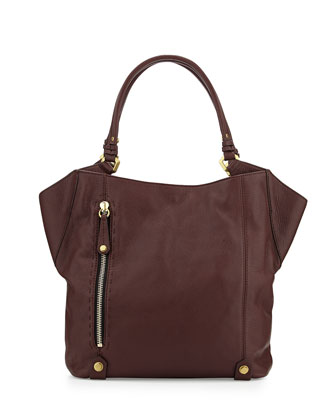 Aquarius Leather Shoulder Bag, Espresso