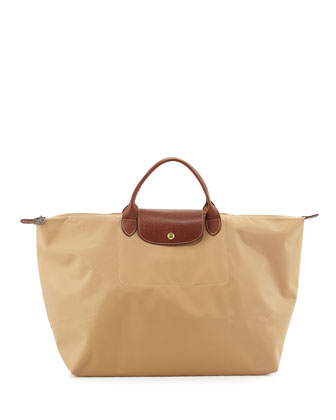 Le Pliage Weekend Travel Bag, Beige