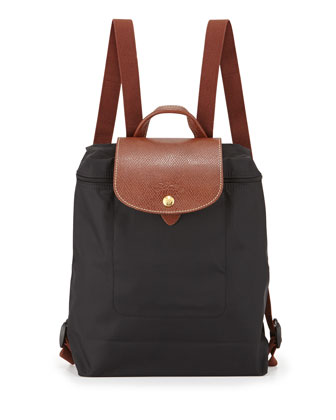 Le Pliage Nylon Backpack, Black