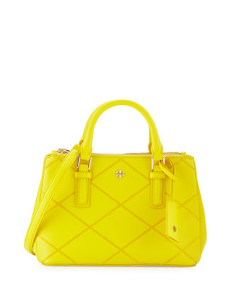 Robinson Micro Double-Zip Leather Shoulder Bag, Sunshine