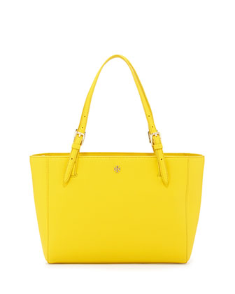 York Small Saffiano Tote Bag, Sunshine